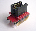 28 Pin ZIF socket adapter for devices in 3.0mm max wide body SOJ packages. Generic one to one wiring