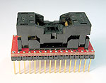 32 Pin TSOP programming adapter for 1 to 4 Mb memories, such as 27C010, 28F020, 29C040 etc.