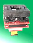 64 pin QFN square SMT socket to 64 QFN pads adapter.