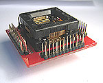 Logic analyser test adapters that have signal connection pins for each IC pin.  These adapters are mounted with ZIF or clamshell test sockets that provide connection to TQFP, QFN, MLF, SOIC, SSOP, TSSOP, TSOP, VSOP, SOP, PLCC, and prototype 0.1 inch spaced printed circuit card sites.