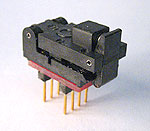 6 Pin MO-178 adapter with closed top ZIF socket