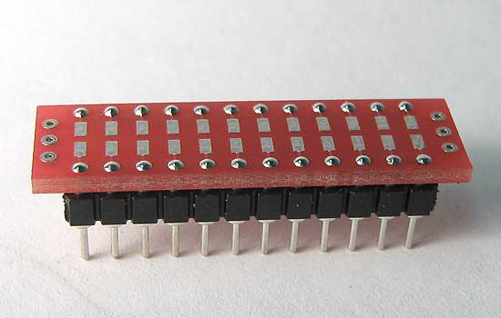 Resistor and Capacitor Surface Mount breadboarding adapter.