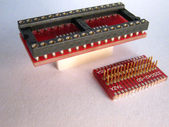 DIP sockets to surface mount pad adapters.