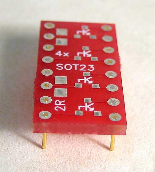 Transistor Surface Mount breadboarding adapter.