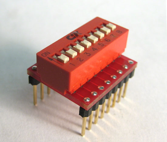 DIP Switch to DIP Pins adapter.