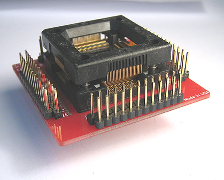 Open top 100 pin QFP Pin Monitor Adapter