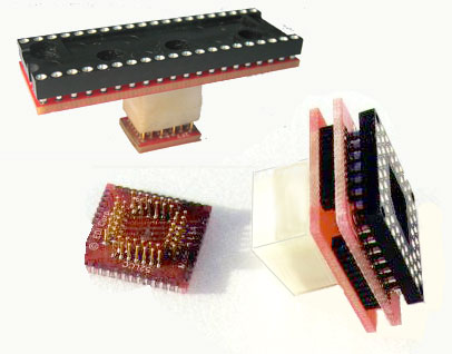 DIP Socket & Pin Receptacle to SMT Pads Adapters